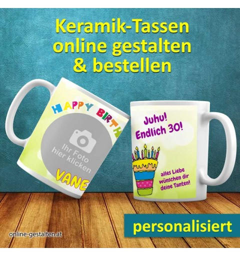Fototasse, Geburtstagstasse, Tasse zum Geburtstag, Geburtstagsgeschenk, Kaffeebecher