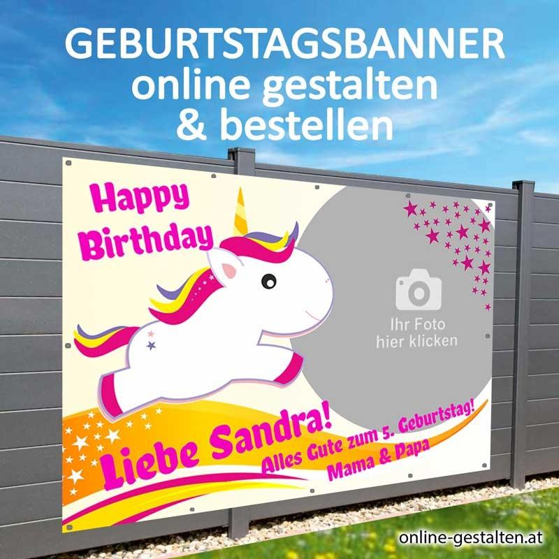 Banner Geburtstag, Geburtstagsbanner, Transparent zum Geburtstag, Geburtstagstransparent, Plakat Geburtstag