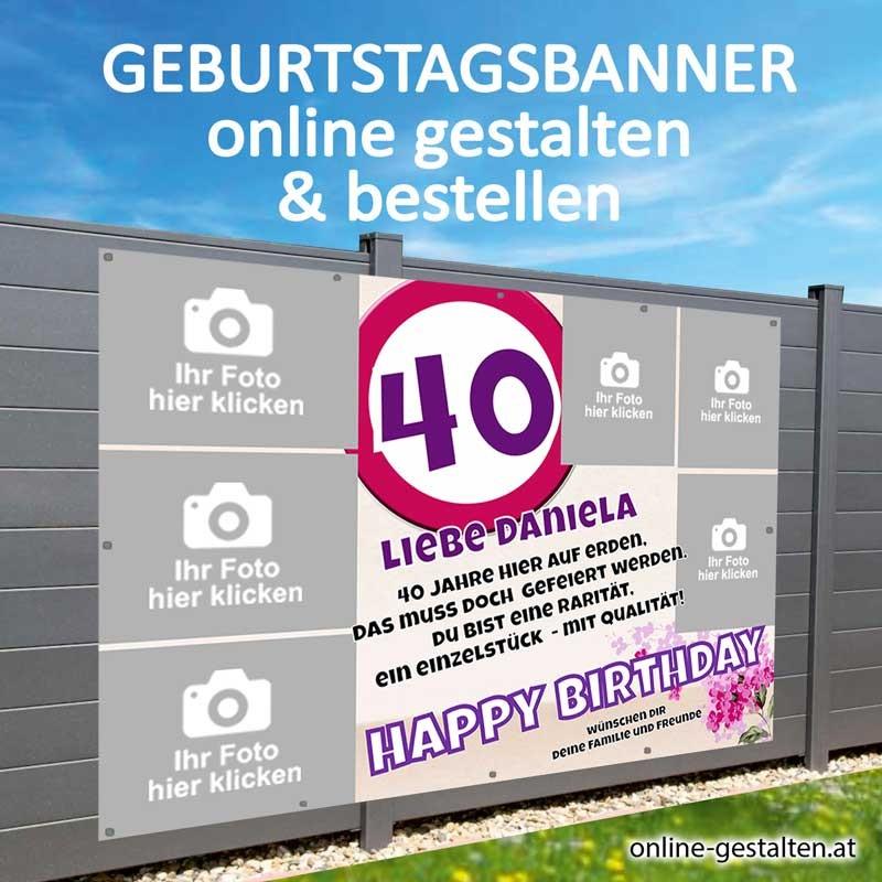 Geburtstagsbanner, Banner Geburtstag, Plakat Geburtstag, Transparent Geburtstag