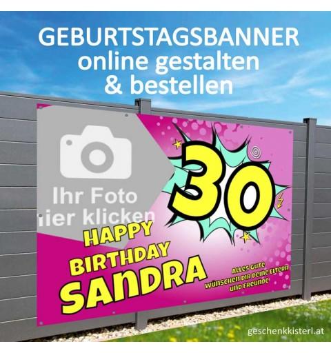 Geburtstagsbanner, Lustige Geburtstagsbanner, Banner zum Geburtstag, Geburtstagstransparent