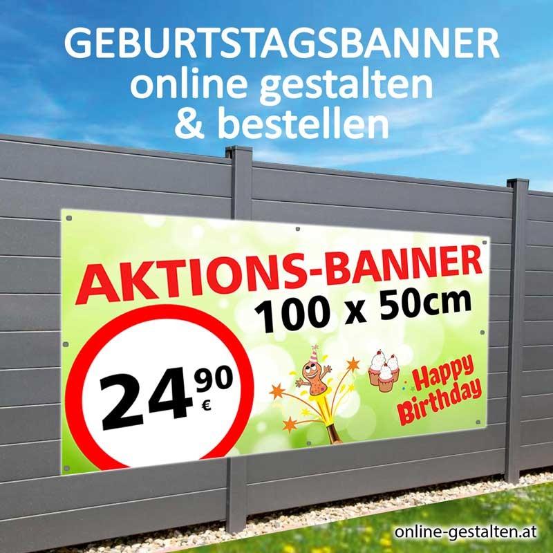 Banner Geburtstag, Geburtstagsbanner, Banner zum Geburtstag, Transparent zum Geburtstag, Geburtstagstransparent