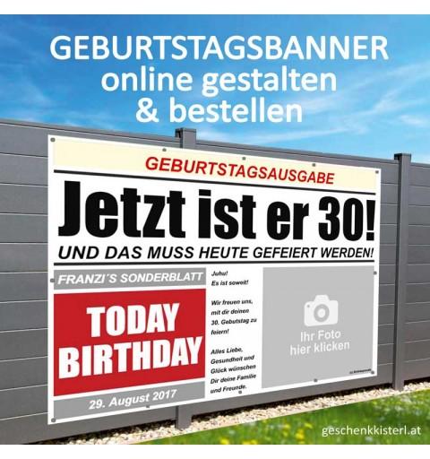 Geburtstagsbanner, Banner zum Geburtstag, Transparent zum Geburtstag, Geburtstagstransparent
