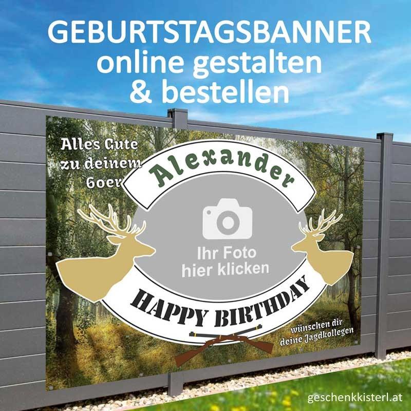 Geburtstagsbanner, Geburtstagsbanner Jagd, Banner zum Geburtstag, Transparent zum Geburtstag, Geburtstagstransparent