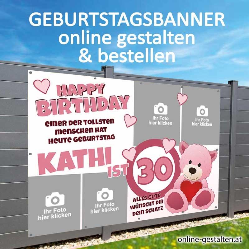 Banner Geburtstag, Geburtstagsbanner, Transparent zum Geburtstag, Geburtstagstransparent, Plakat Geburtstag, 40 Geburtstag