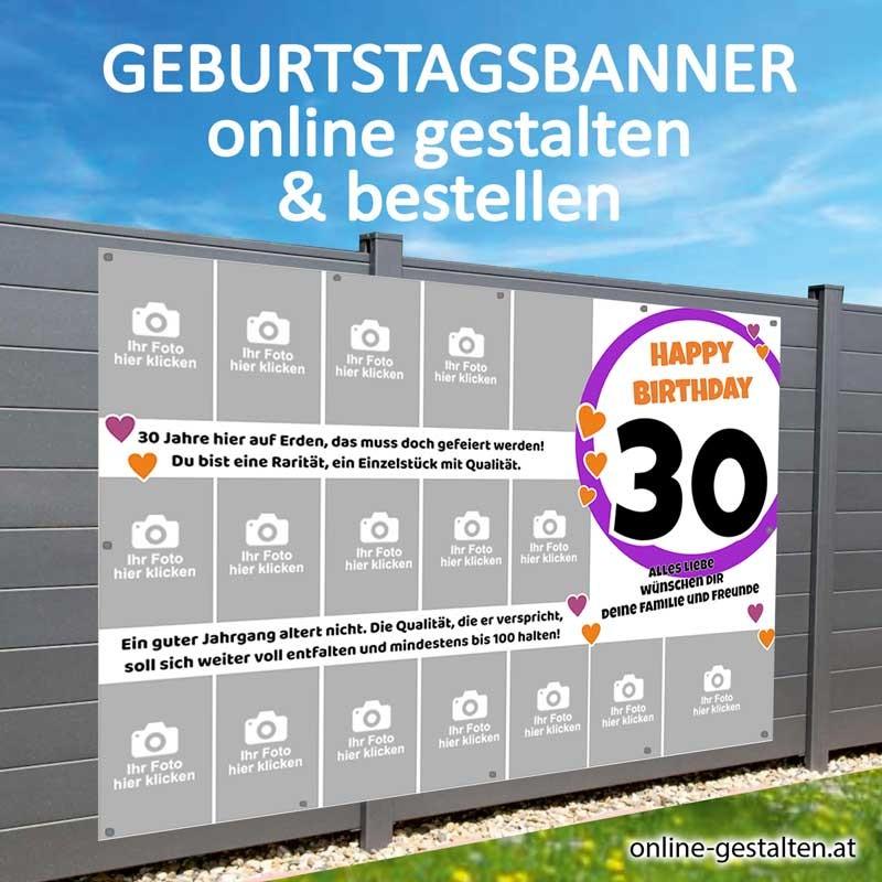 Banner Geburtstag Geburtstagsbanner Plakat Geburtstag Fotobanner Collage Geburtstag